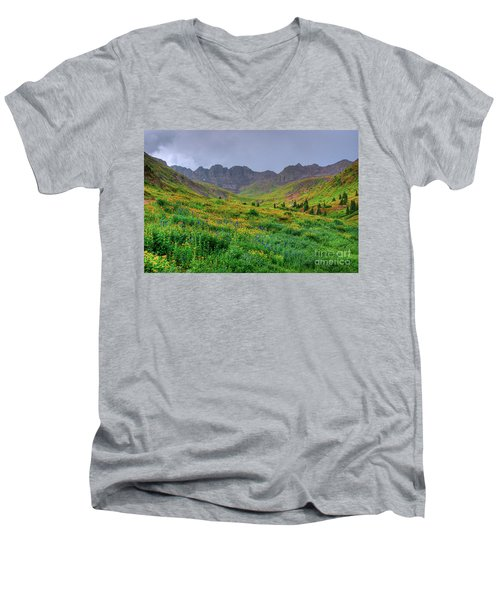 American Basin Summer Storm Men's V-Neck T-Shirt by Teri Brown