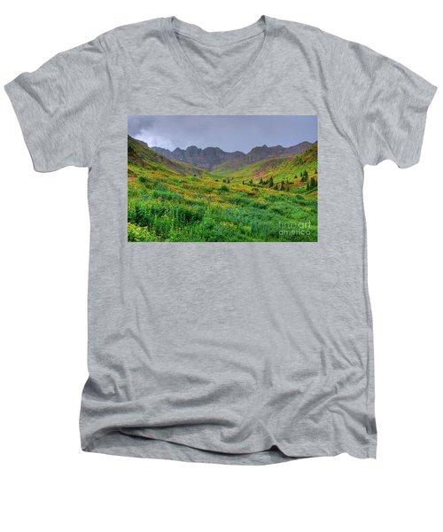 American Basin Summer Storm Men's V-Neck T-Shirt