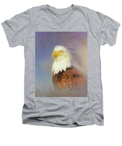 American Eagle Men's V-Neck T-Shirt by Steven Richardson