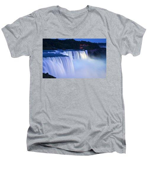 American Falls Niagara Falls Men's V-Neck T-Shirt