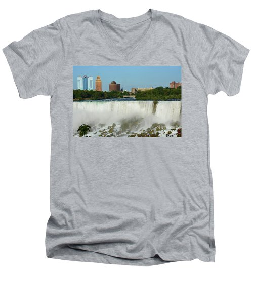 American Falls With Bridal Veil Men's V-Neck T-Shirt