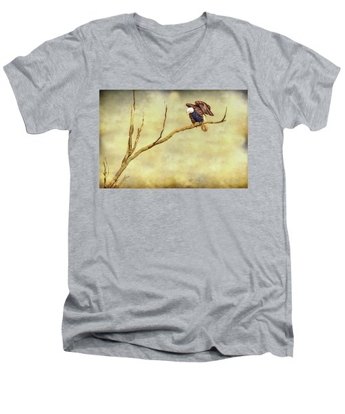 Men's V-Neck T-Shirt featuring the photograph American Freedom by James BO Insogna