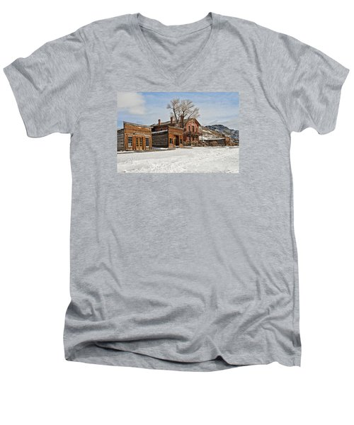 American Ghost Town Men's V-Neck T-Shirt