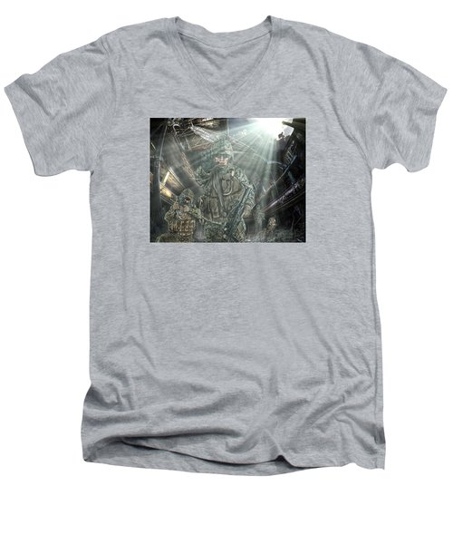 Men's V-Neck T-Shirt featuring the photograph American Patriots by Mark Allen