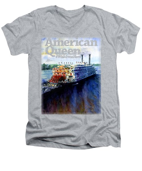 American Queen Shirt Men's V-Neck T-Shirt
