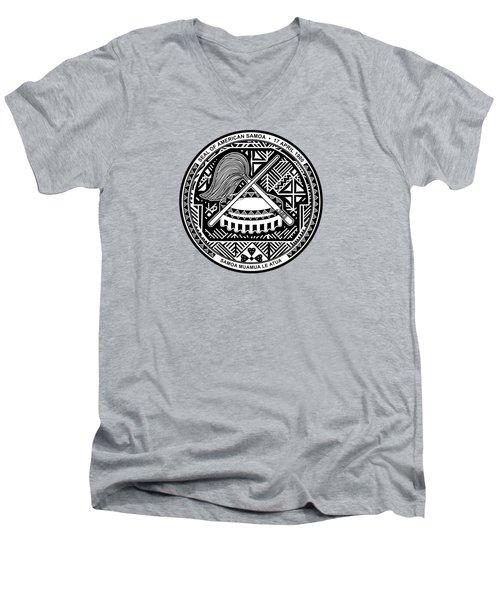 American Samoa Seal Men's V-Neck T-Shirt