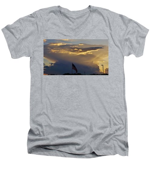 American Supercell Men's V-Neck T-Shirt by Ed Sweeney