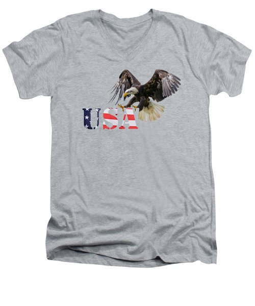 Americ's Eagle Men's V-Neck T-Shirt
