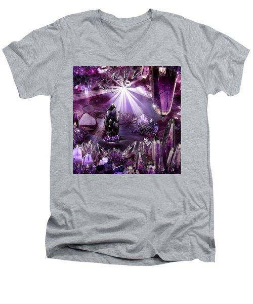 Amethyst Dreams Men's V-Neck T-Shirt
