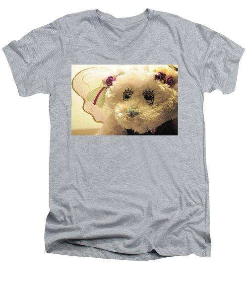 Amethyst Fairy Bear Men's V-Neck T-Shirt