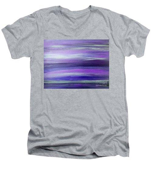 Amethyst Mirage  Men's V-Neck T-Shirt by Rachel Hannah