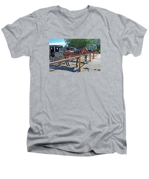 Amish Parking Lot Men's V-Neck T-Shirt