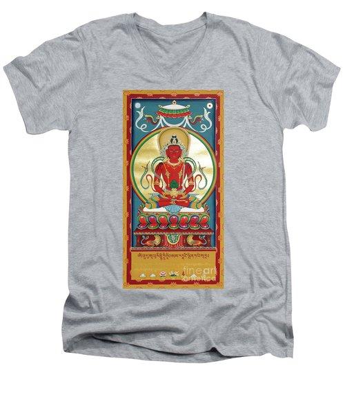 Amitayus Men's V-Neck T-Shirt