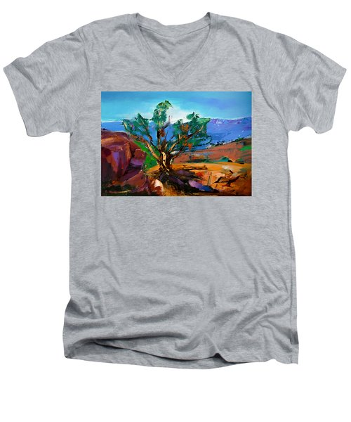 Among The Red Rocks - Sedona Men's V-Neck T-Shirt