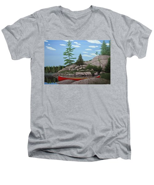 Among The Rocks II Men's V-Neck T-Shirt