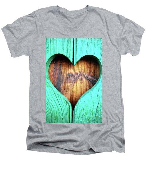 Amor ... Men's V-Neck T-Shirt by Juergen Weiss