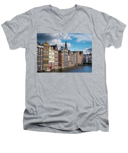 Amsterdam Buildings Men's V-Neck T-Shirt