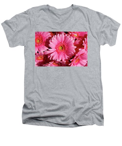 Men's V-Neck T-Shirt featuring the photograph Amsterdam In Pink by KG Thienemann