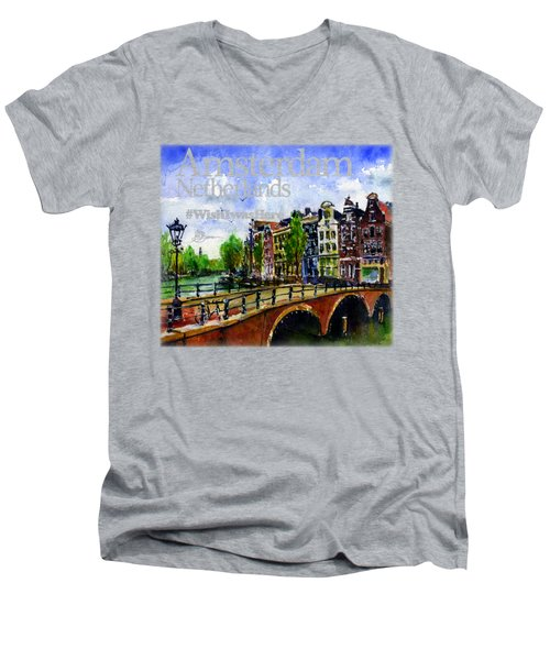 Amsterdam Netherlands Shirt Men's V-Neck T-Shirt