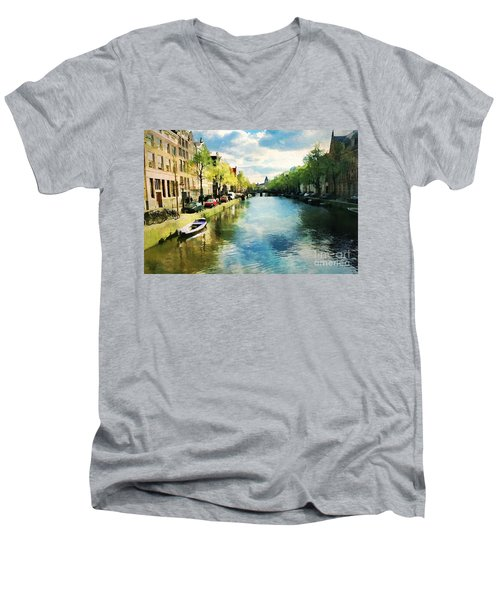 Amsterdam Waterways Men's V-Neck T-Shirt