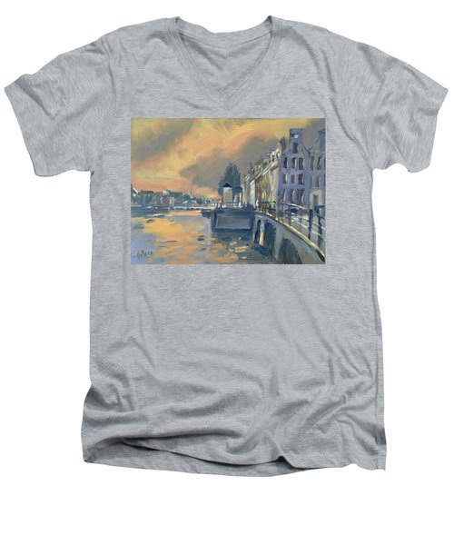 Amsterdm Morning Light Amstel Men's V-Neck T-Shirt