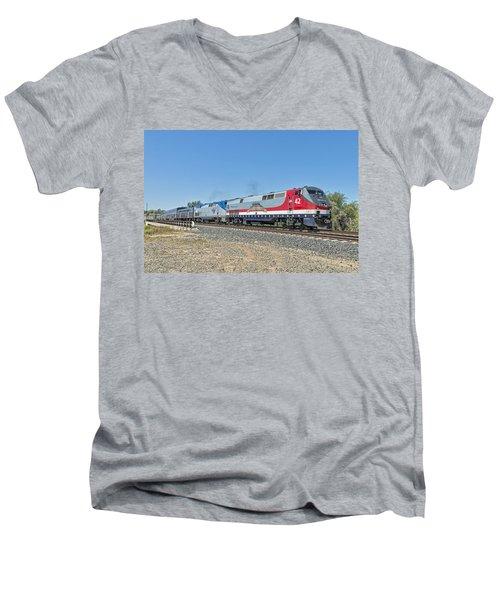 Amtrak 42  Veteran's Special Men's V-Neck T-Shirt by Jim Thompson