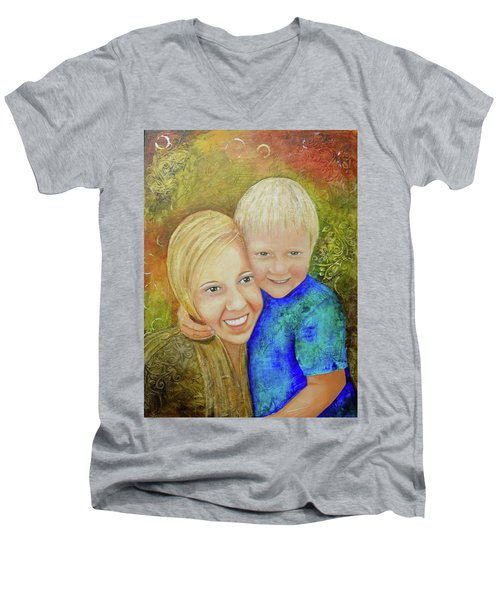 Amy's Kids Men's V-Neck T-Shirt by Terry Honstead