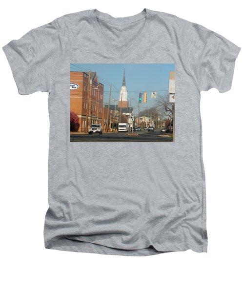 An Aberdeen Afternoon Men's V-Neck T-Shirt