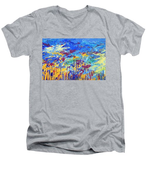 An Abstract Vision Under The Sea Men's V-Neck T-Shirt