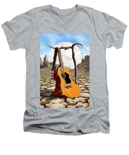 An Acoustic Nightmare Men's V-Neck T-Shirt by Mike McGlothlen
