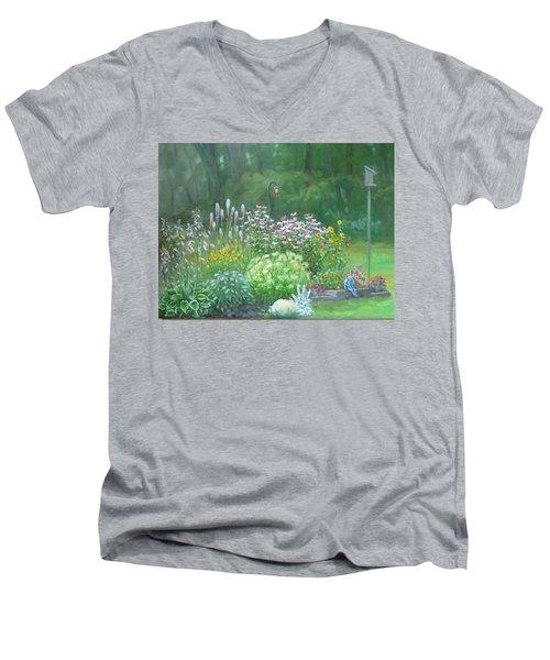 An Angel In My Garden Men's V-Neck T-Shirt by Bonita Waitl
