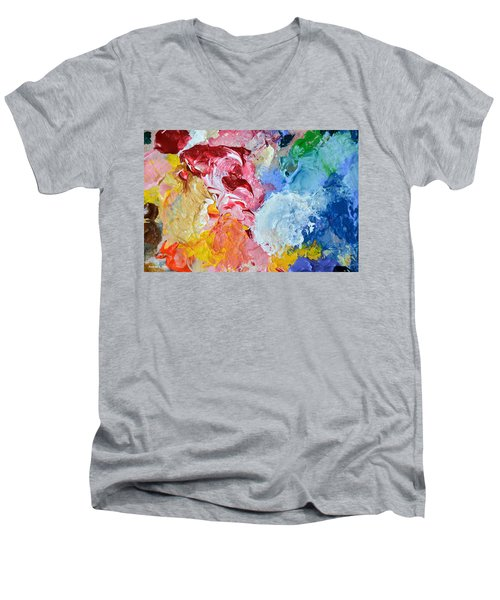 An Artful Blend Men's V-Neck T-Shirt