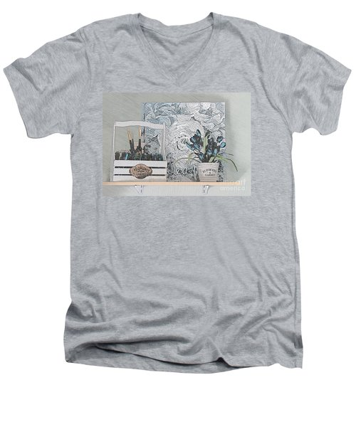 An Artist's Shelf Men's V-Neck T-Shirt