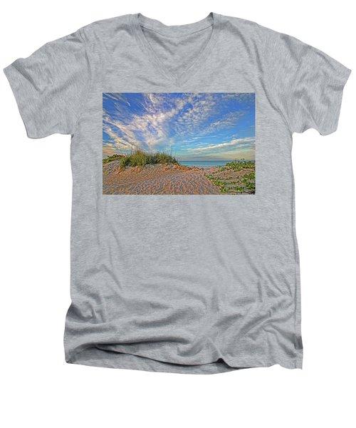 An Invitation - Florida Seascape Men's V-Neck T-Shirt