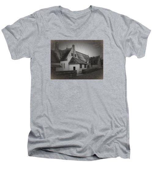 An Irish Church Men's V-Neck T-Shirt by Dave Luebbert