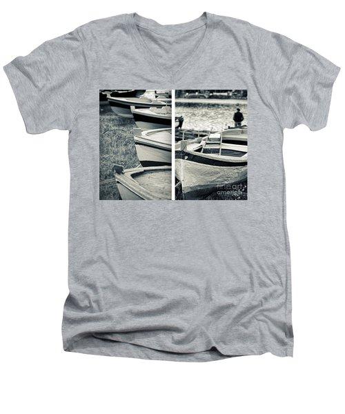An Old Man's Boats Men's V-Neck T-Shirt by Silvia Ganora