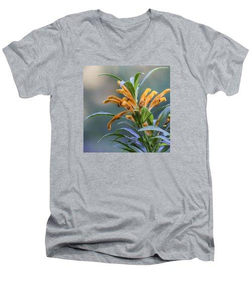 An Orange Flower Men's V-Neck T-Shirt