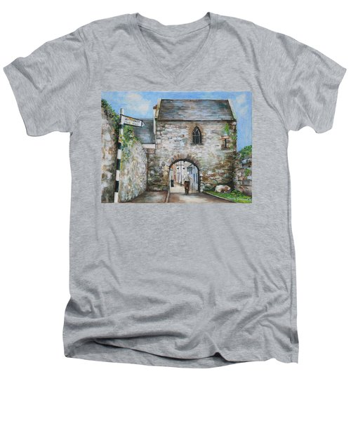 An Tholsel Men's V-Neck T-Shirt by Marty Garland