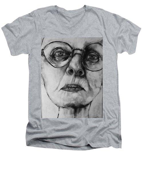 Ana  Men's V-Neck T-Shirt by Jean Cormier