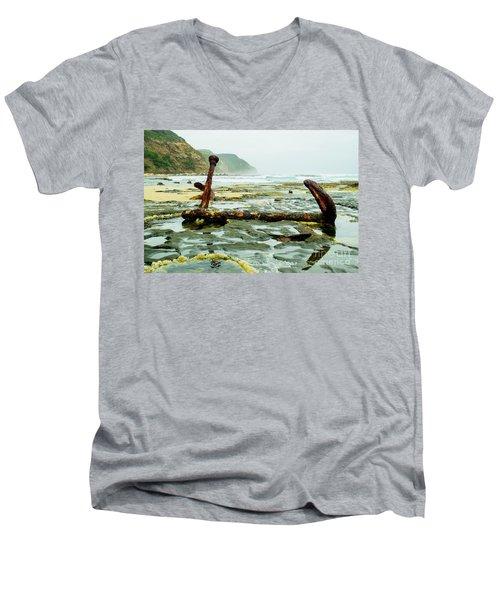 Anchor At Rest Men's V-Neck T-Shirt