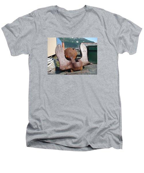 Anchor Men's V-Neck T-Shirt