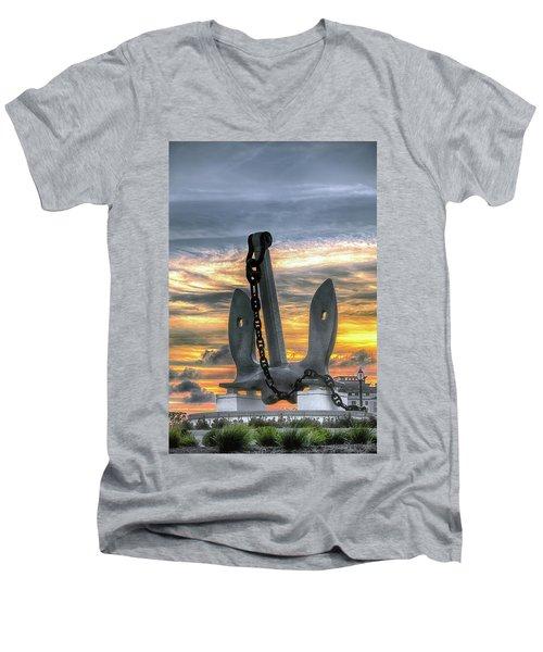 Anchors Away Men's V-Neck T-Shirt