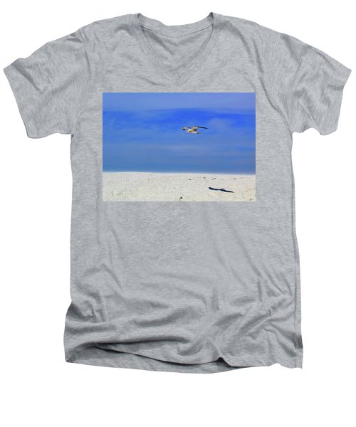 Men's V-Neck T-Shirt featuring the photograph Ancient Mariner by Marie Hicks
