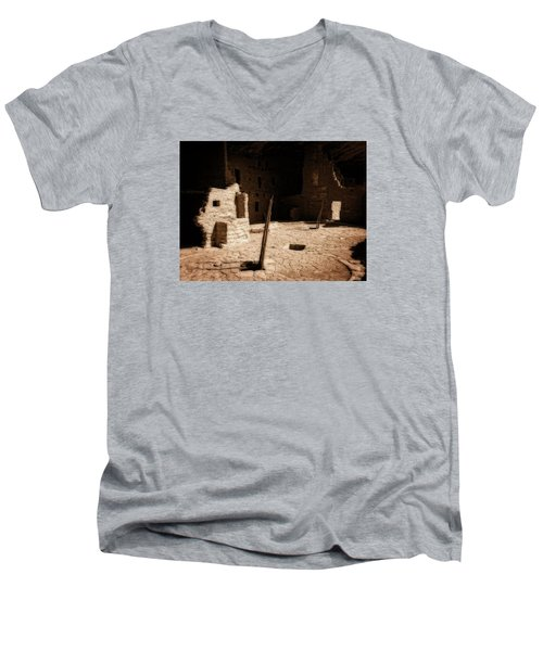 Men's V-Neck T-Shirt featuring the photograph Ancient Sanctuary by Kurt Van Wagner