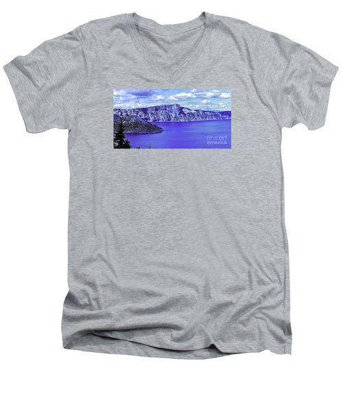 Ancient Waters Men's V-Neck T-Shirt by Nancy Marie Ricketts