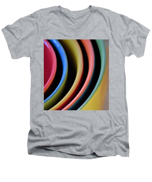 And A Dash Of Color Men's V-Neck T-Shirt