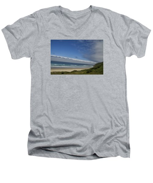 Men's V-Neck T-Shirt featuring the photograph And Miles To Go  by Tom Kelly
