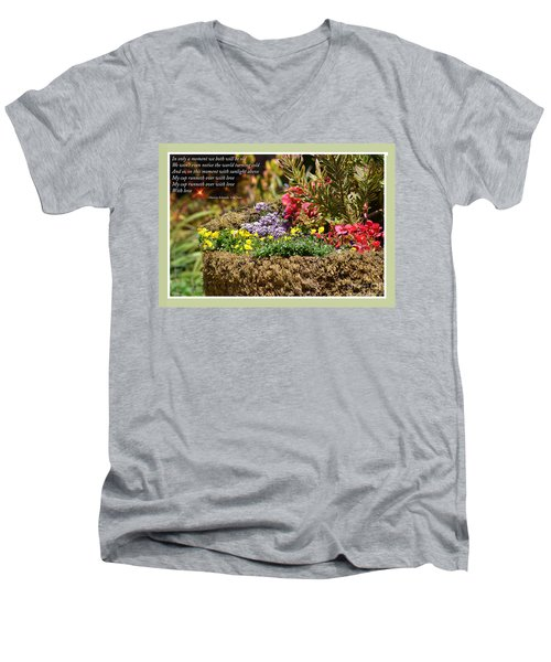 And So In This Moment With Sunlight Above II Men's V-Neck T-Shirt
