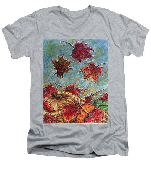 And The Leaves Came Tumbling Down Men's V-Neck T-Shirt