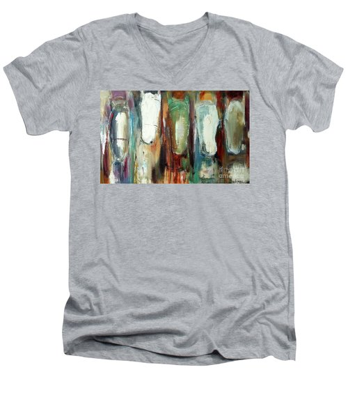 And They're Off Men's V-Neck T-Shirt